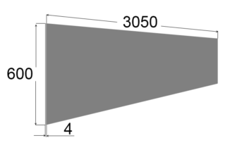 Союз 3050*600*4, Глянец