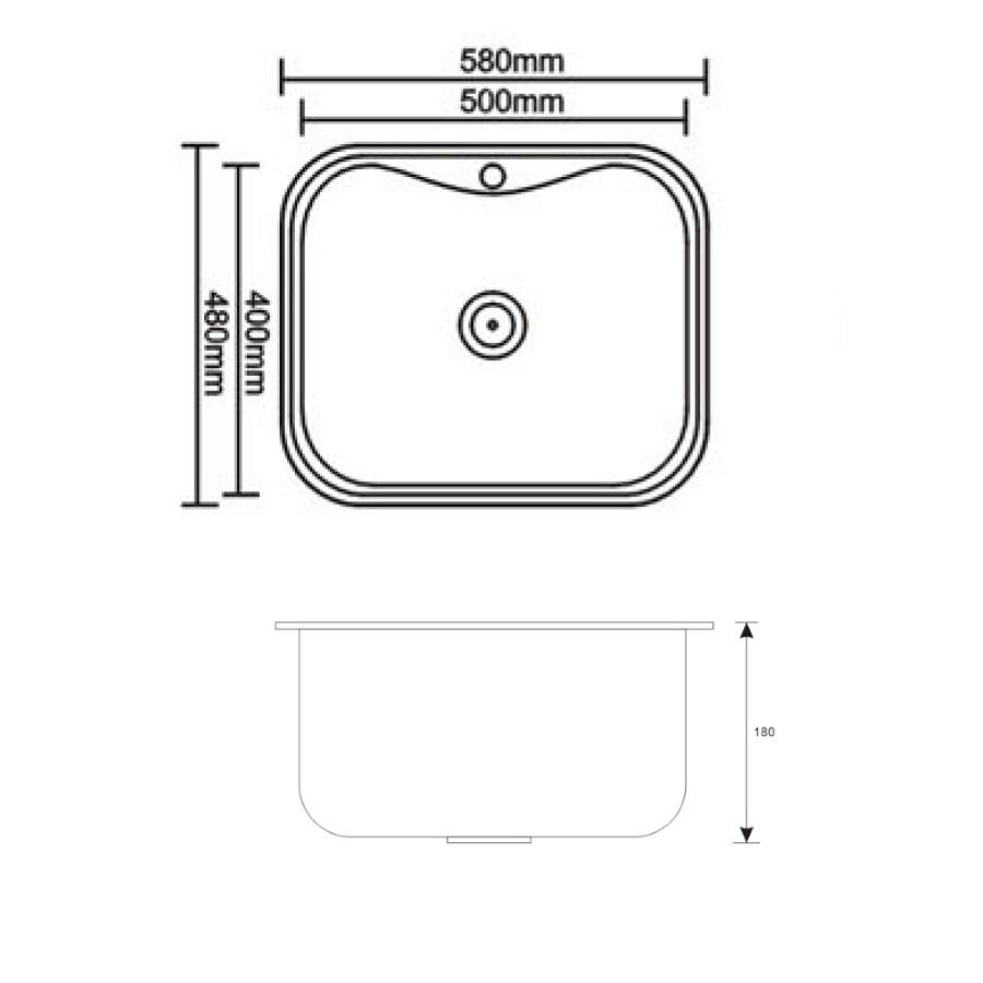 Мойка кухонная Seaman Eco Wien SWT-5848 Дизайн-решетка, Viega, Advantix, цвет-нержавеющая сталь