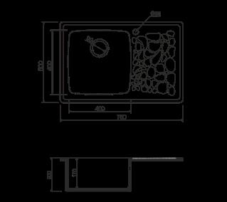 Omoikiri Natori 78-BL черный