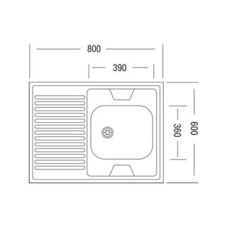 Ukinox STD 800.600-4 L левая УЦЕНКА!