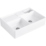 Villeroy&Boch Double Bowl Sink Альпийский белый